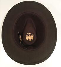 Crushable Felt Fedora Hat 100% Felt Wool Navy, Black, Grey, Camel - Men & Women