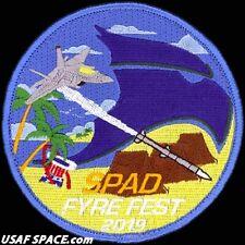 USAF 94TH FIGHTER SQ -F-22- SPAD FYRE FEST 2019- Langley AFB, VA- ORIGINAL PATCH