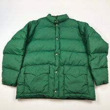 Vintage Woolrich Goose Down Forest Green Quilted Jacket Men's Large?