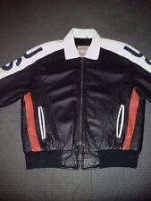 Michael Hoban-WHEREMI-Leather USA Flag Jacket-Men's-Medium-Red/White/Blue-Rare