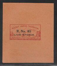 1935 INDIA rocket mail stamp - R. No. 65 - LIVESTOCK - EZ 12A1