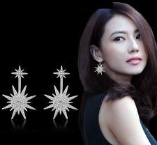 2 in 1 Sterling silver cute frozen snow flake frozen stud earrings Gift box S6