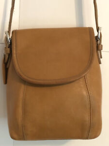 Coach Vtg Tan SOHO Small Flap Mini Shoulder Crossbody Bag #4108