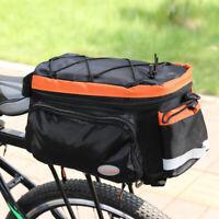 Large Electric Bike Rear Rack Saddle Bag Heavy Duty Ebike Bicycle Storage Case