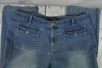 Riveted By Lee Jeans Denim Front Pockets No Rear Pockets Womens Size 14 Petites