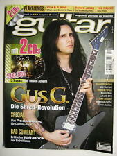 GUITAR MAGAZINE 2015/8 NR. 183 - GUS G. BAD COMPANY SOCIAL DISTORTION INCL. 2 CD