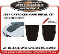 T-HAWK HOOD DECAL Fits Jeep Cherokee 2014 2015 2016 Matt Black Air Release Vinyl