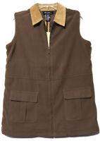 Denim & Co Womens Brown Full Zipper Lightweight Vest Size Small New