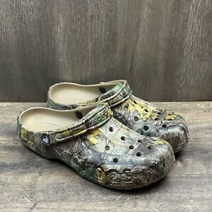 Crocs Baya Realtree Xtra Men's Clog Size 12 Model 206517-260 Camoflague
