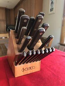 1ST GENERATION RETRO LOVERS CUTCO 19 pc HOMEMAKER PLUS 8 KNIFE SET.