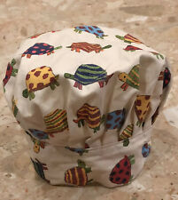 Now Designs Children's Adjustable Chef Hat Cotton Canvas Turtle Print