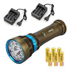 Waterproof 100m 22000Lm 9x L2 LED Scuba Dive Flashlight Torch Lamp+6x18650