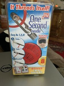 As Seen On TV One Second Needle with 130 Piece Bonus Sewing Kit [ NEW Box Set ]