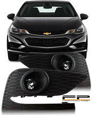 2017 Chevy Cruze Projector Fog Lights Front Lamp Complete Kit Switch+Harness