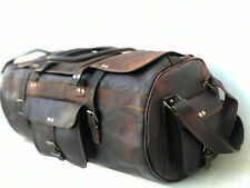 Bag Luggage Holdall Real Universal Leather Duffle Weekend Travel Flap Overnight