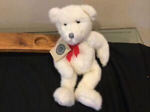 BOYDS Bears J.B. Bean Series Bean Bag Bear Red Christmas Bow Tie