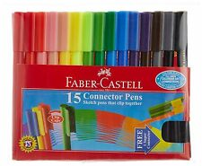 5 x New Faber Castell 15 Connector Pen Colourful Textas Marker Sketch Pens