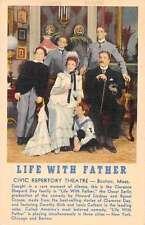 Boston Massachusetts Civic Repertory Theatre Linen Antique Postcard J48631