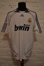 VINTAGE REAL MADRID SPAIN 2007/2008 HOME FOOTBALL SHIRT SOCCER JERSEY CAMISETA