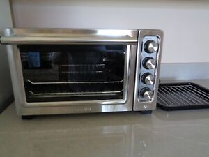 """KitchenAid Contour Silver KCO253CU 12"""" Compact Oven Convection Toaster Oven"""