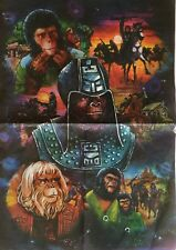 More details for vintage 1975 planet of the apes sheet of wrapping paper british rare