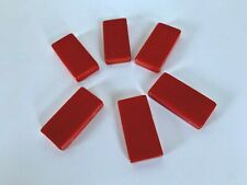 6 Bakelite 76mm x25mm x8mm Red Domino Blanks with Holes For Jewelry Making