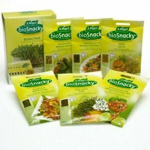 A.Vogel Biosnacky sprouting seeds easy grow indoor Bulk Box of 12 packs Bioforce