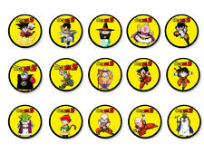 Lot Pack Badge Button Ø38mm Dragon Ball Z Manga DBZ Son Goku