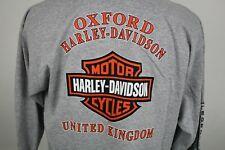 🔴 Vintage Harley Davidson Long Sleeve Shirt Oxford United Kingdom 2003 H-D XL