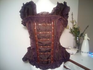 Vintage Goth Collection Brown Buckled Steampunk Victorian Corset Size 2XL / 14