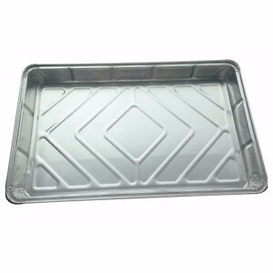 "Foil Baking Trays Large Tray Bake Containers Aluminium Disposable 12"" x 8"" BF055"