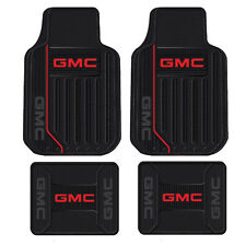 New 4pc GMC Elite All Weather Heavy Duty Rubber Front & Back Floor Mats Set