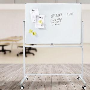 Mobiles Whiteboard | Beidseitig beschriftbare Drehtafel/Schultafel | 5 Größen
