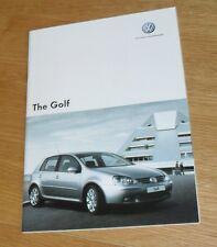 Volkswagen VW Golf Mk5 Brochure 2006-2007 1.6 1.9 GTI Edition 30 2.0 GT TDI 170