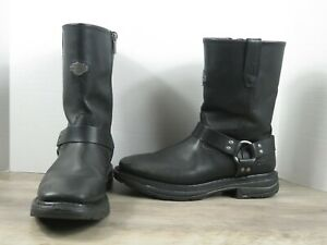 Men's Harley Davidson Harness Slip Resistant Leather Motorcycle Boots Size 12