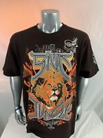 5ive Jungle King's County Men's Graphic Tee Shirt Size 3XL Short Sleeves Brown