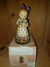 "Anri Sarah Kay Figurine ""Snuggle Up"" 5"" 600007 Rare 1994 Club Figurine w/ Box"