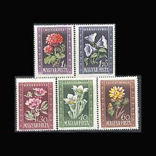 Hungary, Sc #906-10, MH, 1950, Flora, Flowers, Cplt. set, 3FAHI