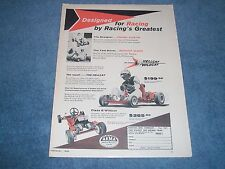 "1960 Color Hellcat & Wildcat Vintage Go Kart Ad ""Designed For Racing..."""