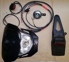 Motorcycle Lighting Kit Road Legal (UK MOT) Enduro Custom Bike Loom and Lights