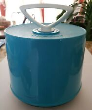 1960's Blue Disk-Go-Case 45 RPM Vinyl Record Holder Carry Tote