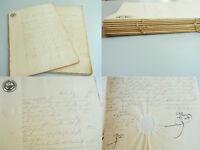 2 Dokumente LANDAU 1853: Erbteilung Jakob Christoph JELITO an Söhne / 151 Seiten