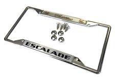 Cadillac Escalade Chrome Zinc Steel License Plate Frame Screws and Caps