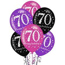 Amscan 9900723 11-inch 70th Birthday Latex Balloons