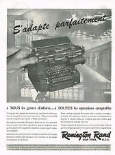 PUBLICITE ADVERTISING 114  1956  REMINGTON RAND  machine comptable 285