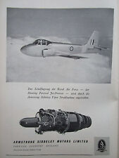 5/1956 PUB ARMSTRONG SIDDELEY VIPER ENGINE HUNTING JET PROVOST RAF GERMAN AD
