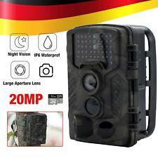 Wildkamera 20MP 1080P Video Jagdkamera Bewegungsmelder Nachtsicht Mit SD Karte