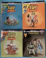 Toy Story Collection 1,2,3,4 SteelBook (4K Ultra HD + Blu-ray + Digital) Sealed