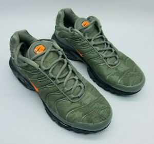 Nike Air Max Plus Tn SE Men's Running Shoes Dark Stucco Total Orange Size 8.5