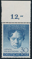 BERLIN 1952, MiNr. 87, Oberrand, tadellos postfrisch, Mi. 45,-